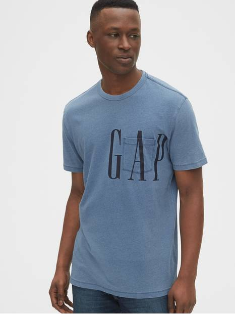 Gap Logo Indigo Pocket T-Shirt
