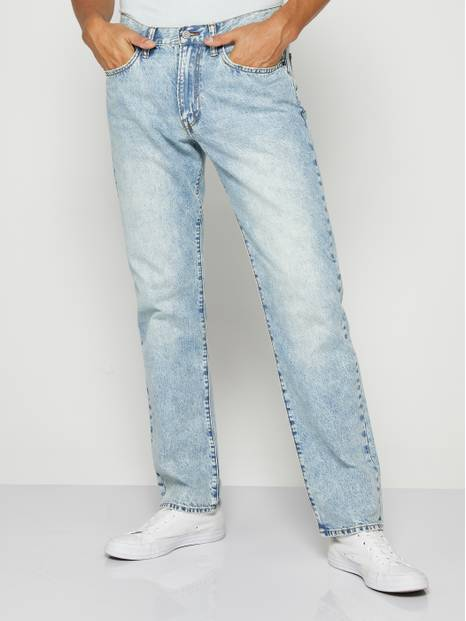 Faded Straight Fit Jeans