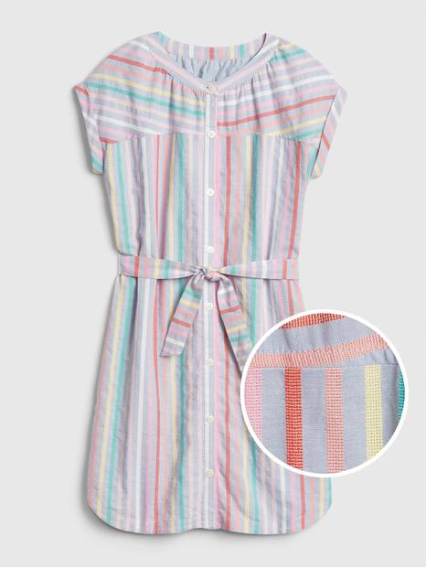 Kids Tie-Belt Shirtdress