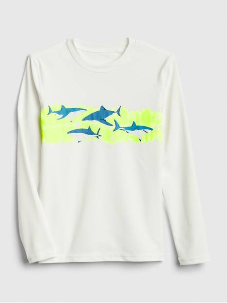 Kids Shark Rash Guard