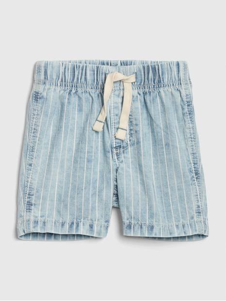Baby Railroad Stripe Denim Shorts