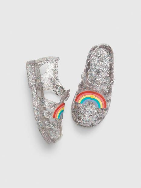 Toddler Rainbow Jelly Sandals