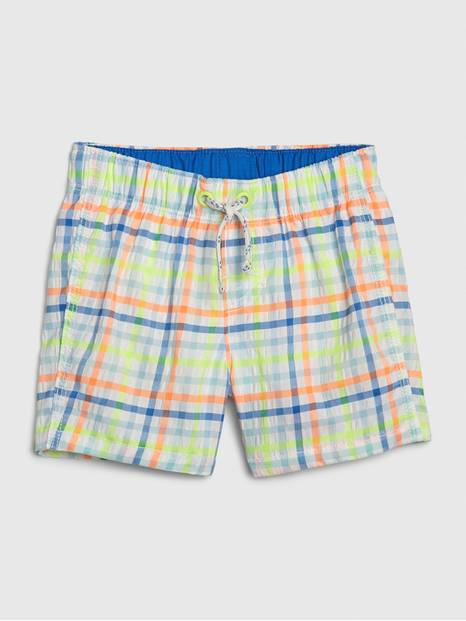 babyGap Plaid Swim Trunks