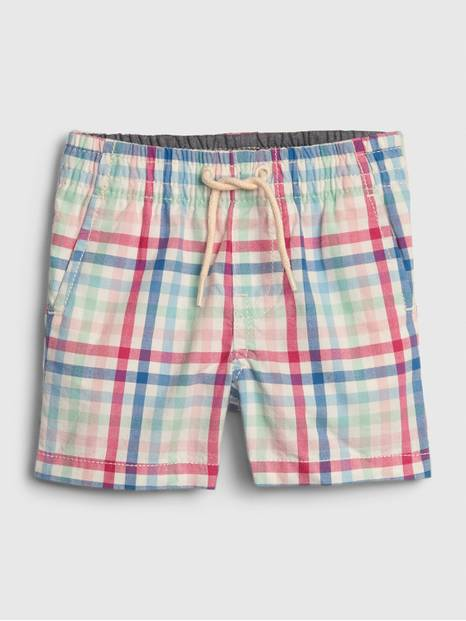 Baby Plaid Pull-On Shorts