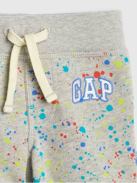 Baby Paint Splatter Logo Pull-On Shorts