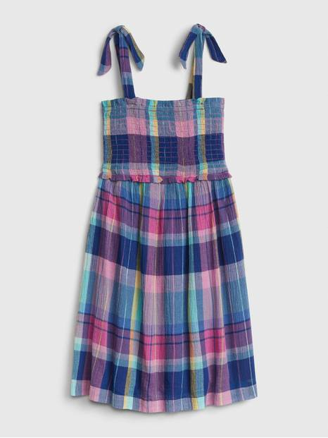 Kids Plaid Tie Dress