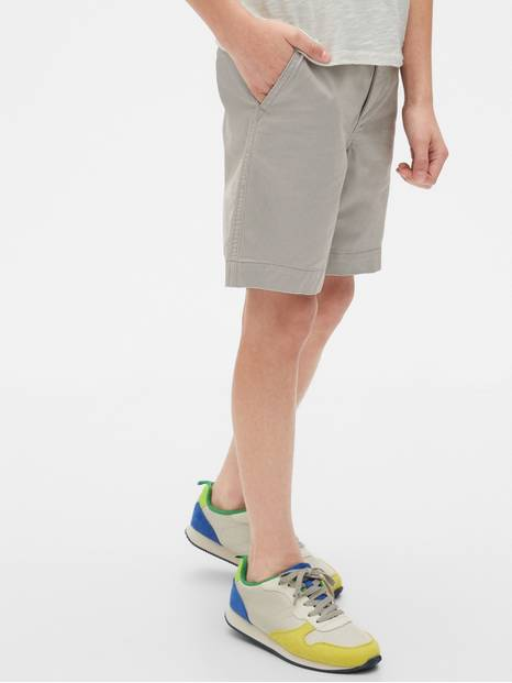Lived-In Khaki Shorts with Stretch