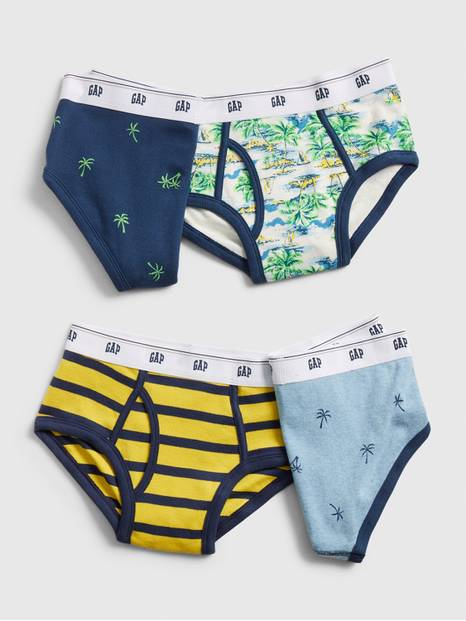 Kids Tropical Briefs (4-Pack)