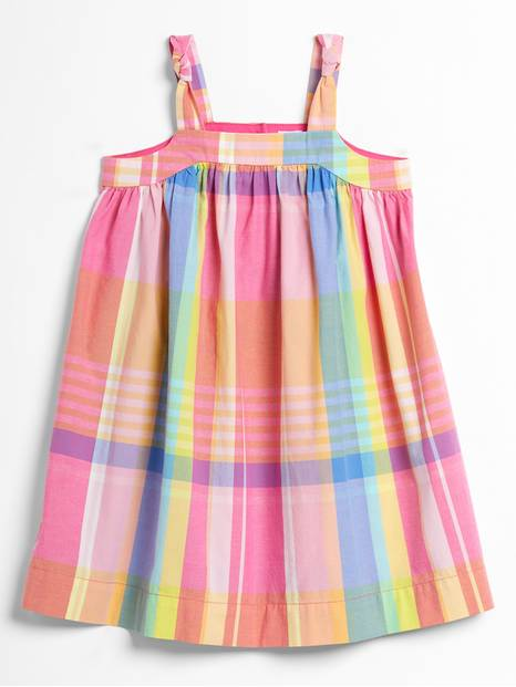 Toddler Plaid Tank Dress