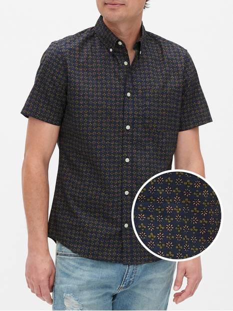 Short Sleeve Shirt in Slim Fit