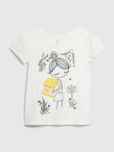 Toddler Bea Puff-Sleeve Graphic T-Shirt