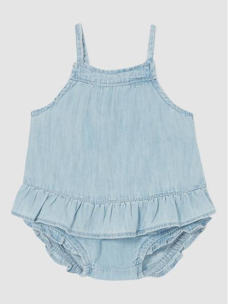 Baby Denim Ruffle 2-Piece Set