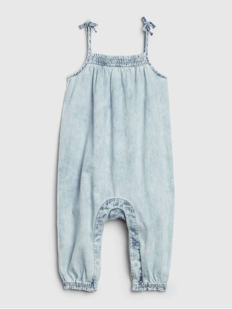 Baby Denim Smocked One-Piece