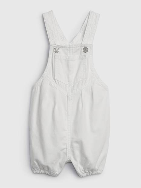 Baby Denim White Shortall