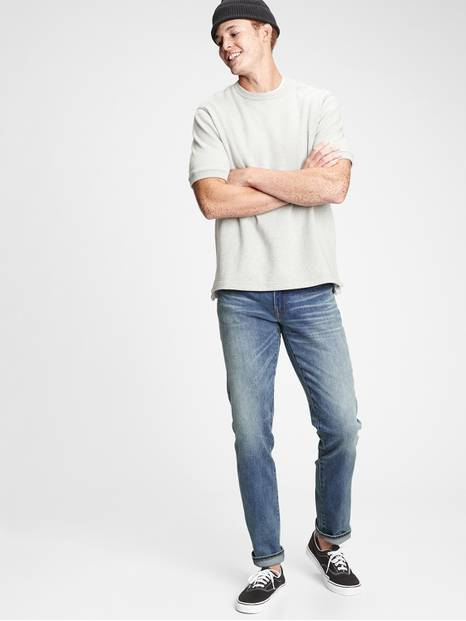 Soft Wear Slim Straight Jeans with GapFlex