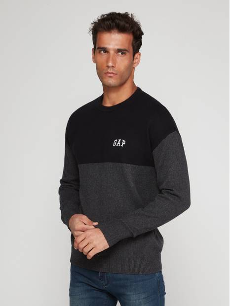 Gap Logo Color-Block Sweater
