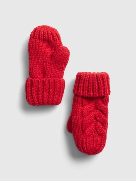 Toddler Cable Knit Mittens