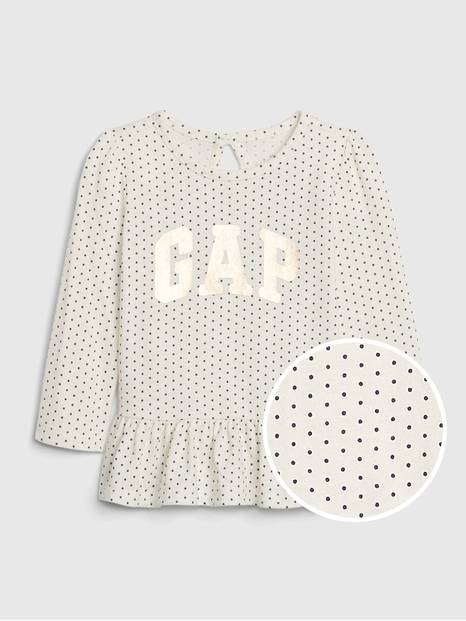 Baby Gap Logo Peplum Top