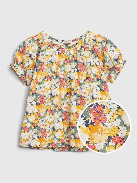 Baby Floral Smock Top