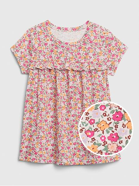 Toddler Mix and Match  Ruffle T-Shirt