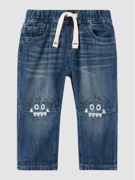 Toddler Pull-On Monster Slim Jeans
