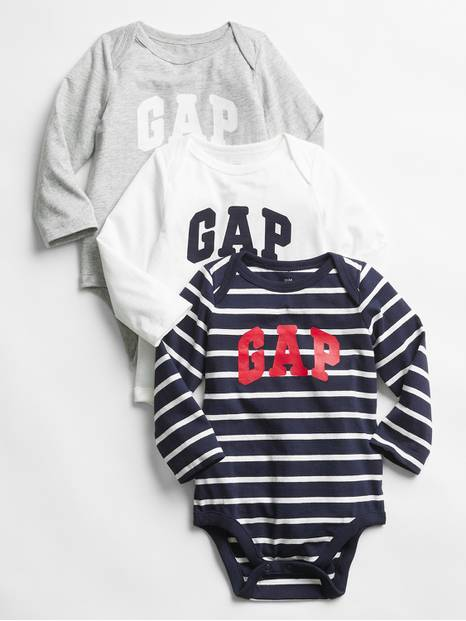 babyGap Logo Long Sleeve Bodysuit