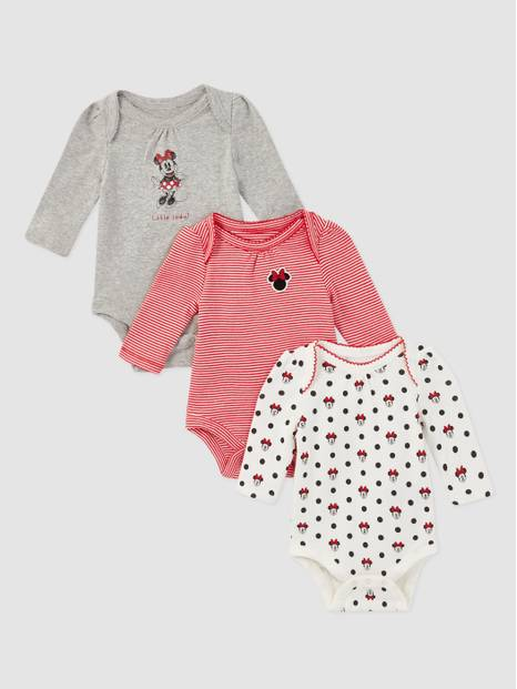 babyGap &#124 Disney Minnie Mouse Graphic Bodysuit (3-Pack)