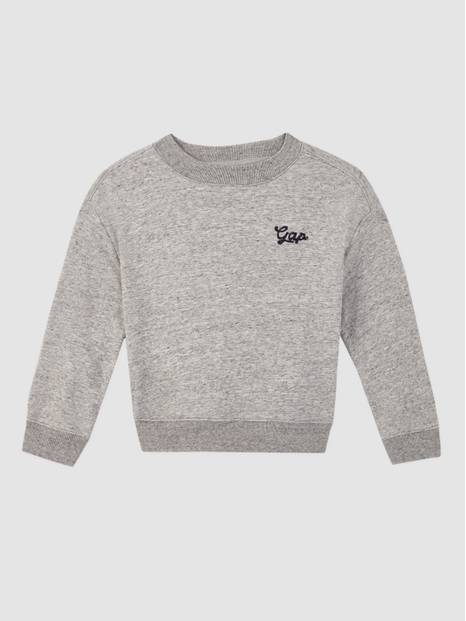 Kids Embroidered International Logo Back Sweatshirt