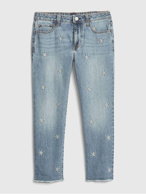 Kids Girlfriend Floral Jeans