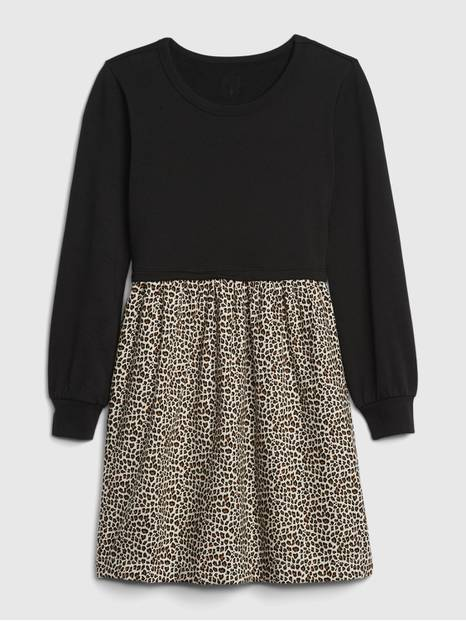 Kids Leopard Print Skater Dress