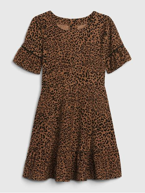 Kids Leopard Print Dress