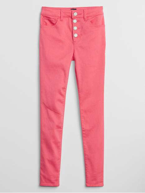 Kids High Rise Jeggings with Stretch