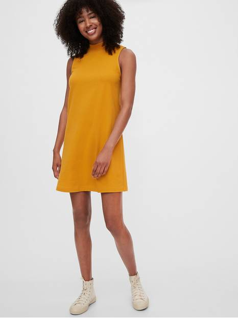 Sleeveless Mockneck Dress