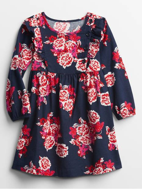 Toddler Ruffle Print Dress