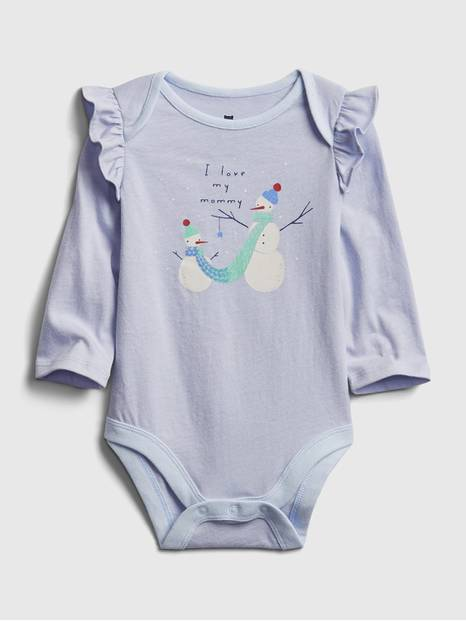 Baby Mix and Match Ruffle Graphic Bodysuit