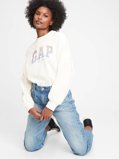 Gap Logo Shine Crewneck Sweatshirt
