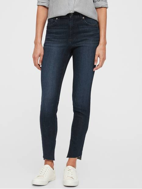 High-Rise Universal Legging Jeans with Raw Hem