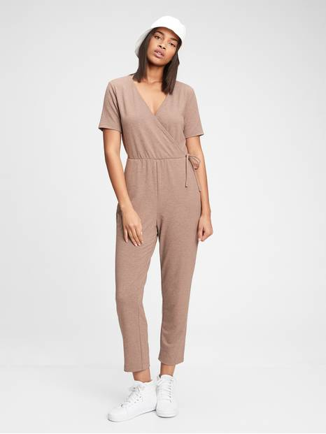 Supersoft Wrap-Front Jumpsuit