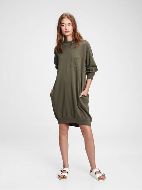 Pocket Sweatshirt Dress