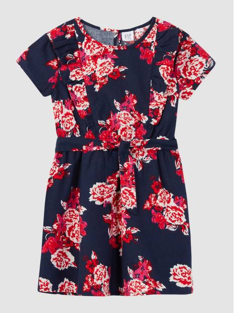 Kids Ruffle Print Dress