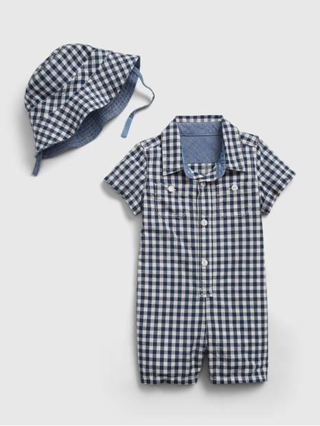GINGHAM SHORTIE HAT  | 214265804