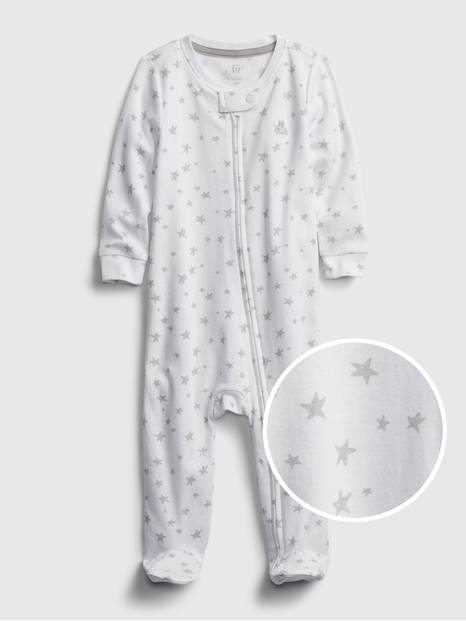 Baby Organic Cotton First Favorite Star Graphic One-Piece