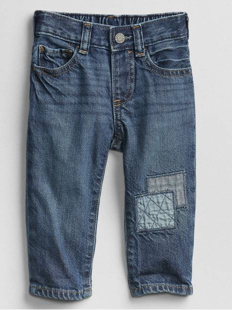 Baby Patchwork Straight Jeans