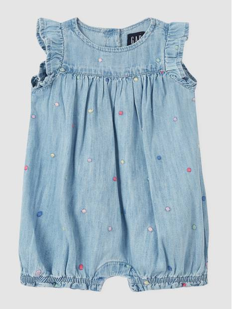 Baby Denim Shorty One-Piece