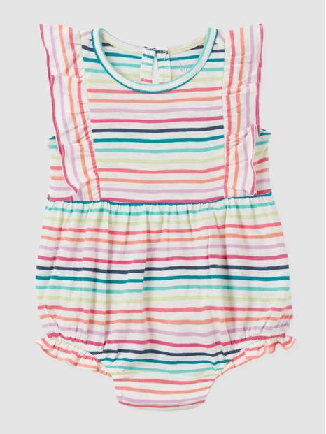 Baby Stripe Bubble One-Piece
