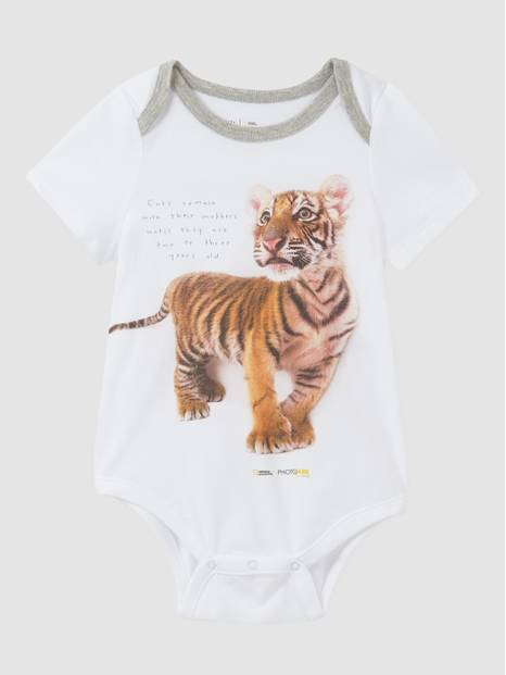 Baby Gap National Geographic Photo Ark Organic Cotton Bodysuit