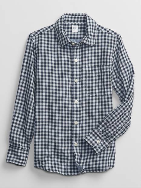 Kids Gingham Button-Down Shirt