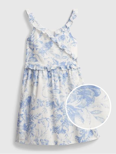 Kids Wrap Ruffle Dress