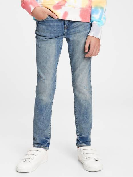Kids Distressed Skinny Jeans with Stretch