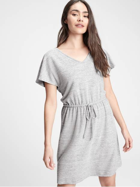 Relaxed V-Neck Dress